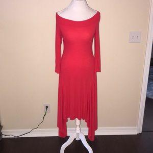 BCBG off the shoulder dress